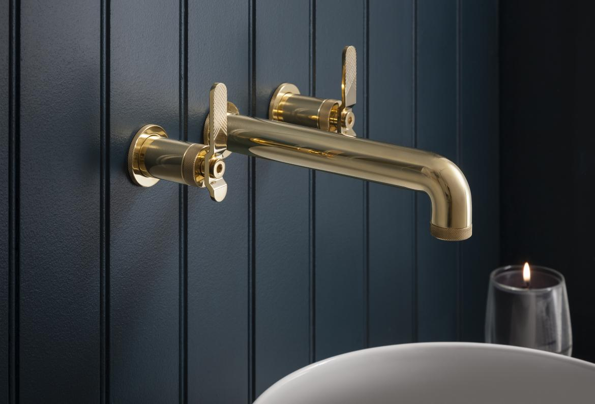 Crosswater London Union Bath Fittings Collection Polished Brass