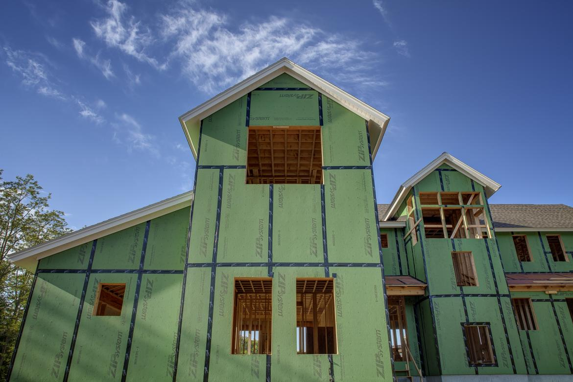 Huber Engineered Woods' ZIP System Sheathing on a house