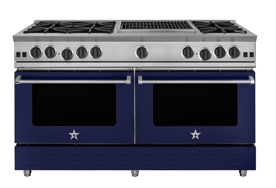 BlueStar has redesigned its flagship Residential Nova Burner with a larger oven window and sleeker lines, and has added more colors and finish combinations.