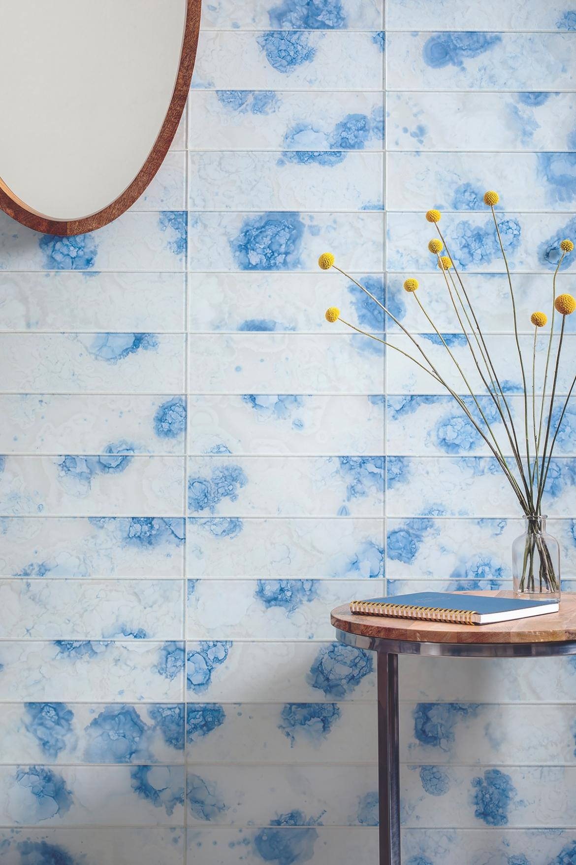 Bright side glass wall tile