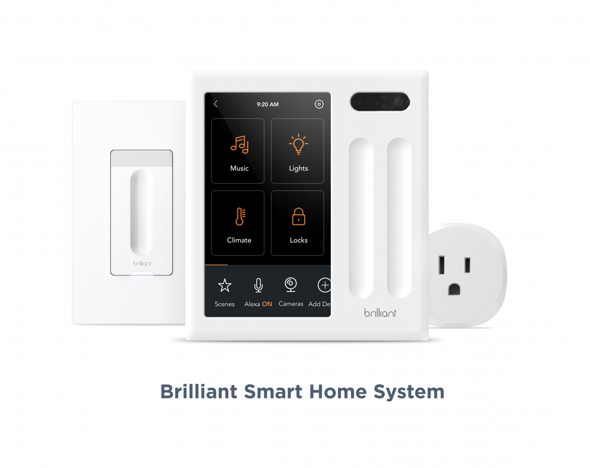 Brilliant Smart Dimmer Switch Smart Plug Smart Home Family B