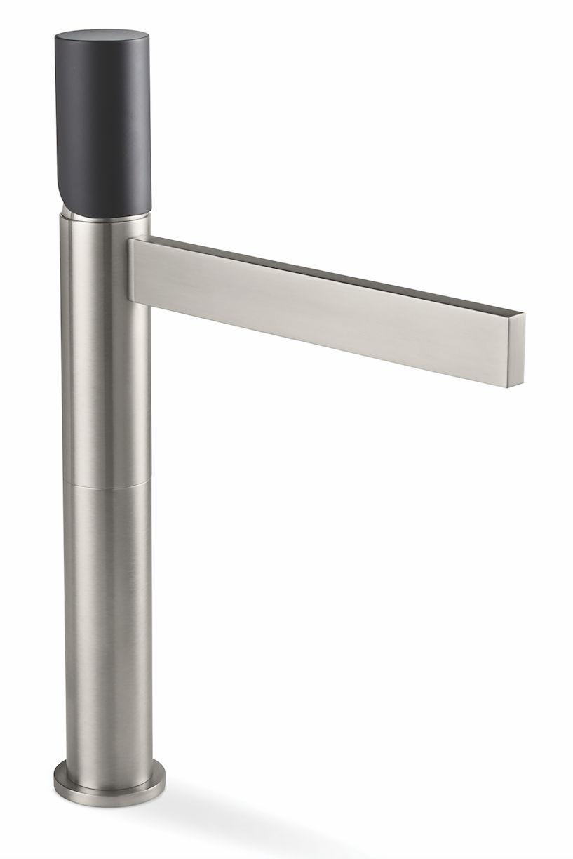 California Faucets Bel Canto Cylinder Handle 15-inch matte black steel
