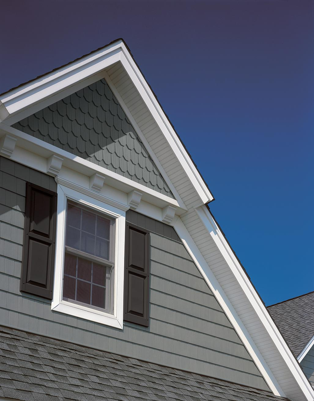 CertainTeed Cedar Impressions Siding Double 7 inch 3G Octagons House Pacific Blue