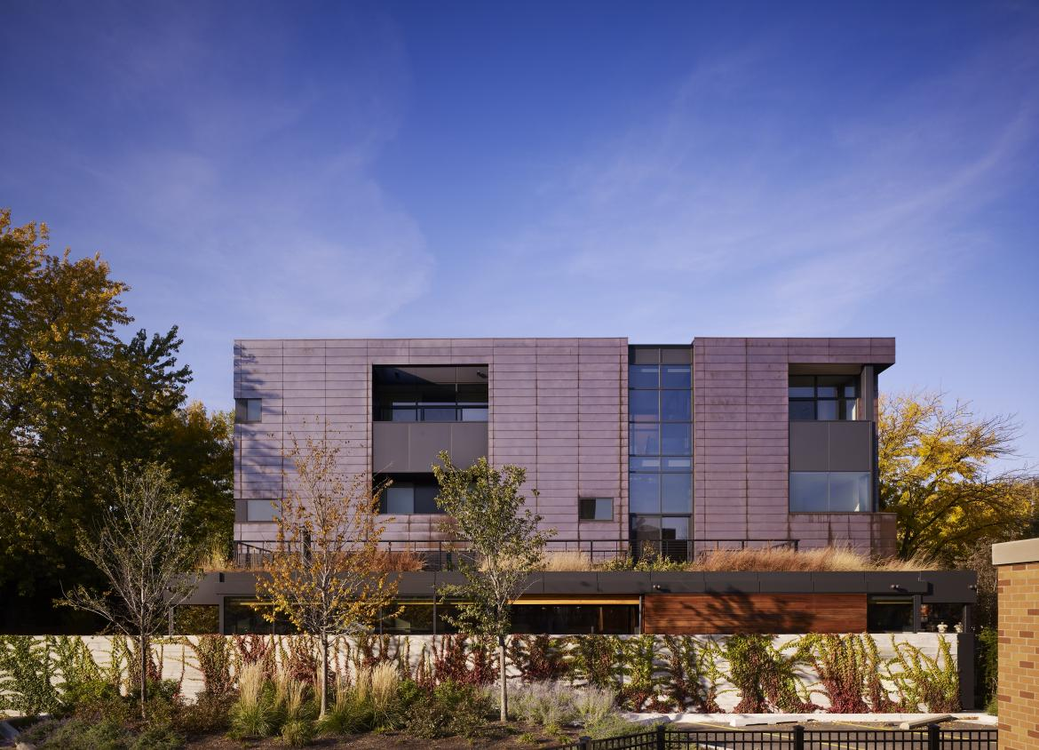 Copper Development Association Orchard Willow Residence Wheeler Kearns Architects Credit Steve Hall Hedrich Blessing day shot