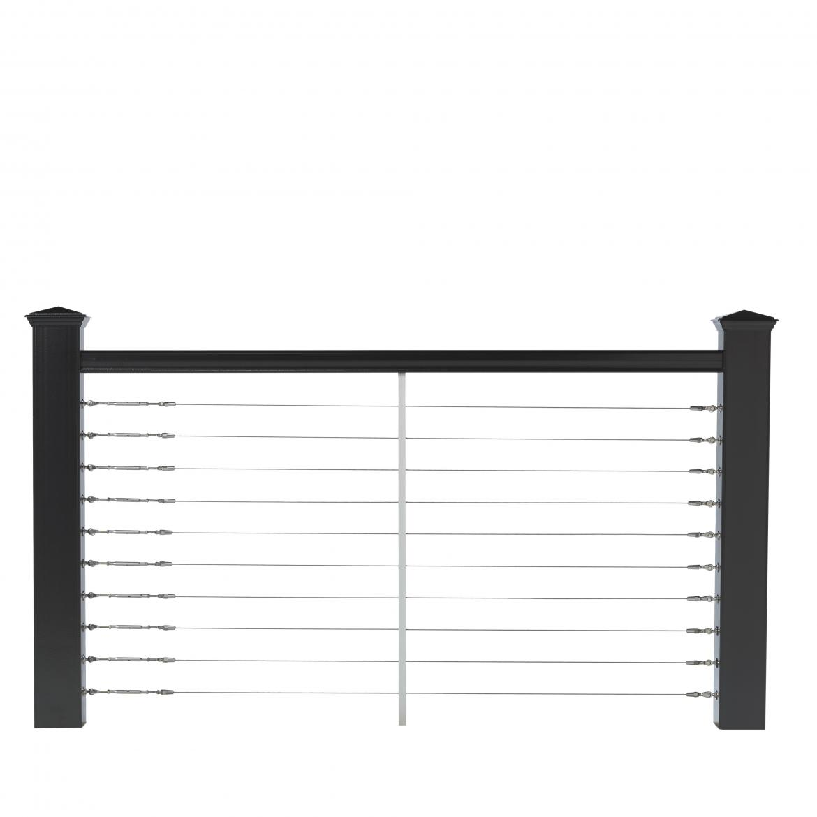 Deckorators cable railing in black