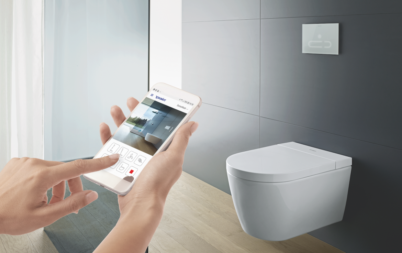 Duravit SensoWash f Shower Toilet Philippe Starck smart phone