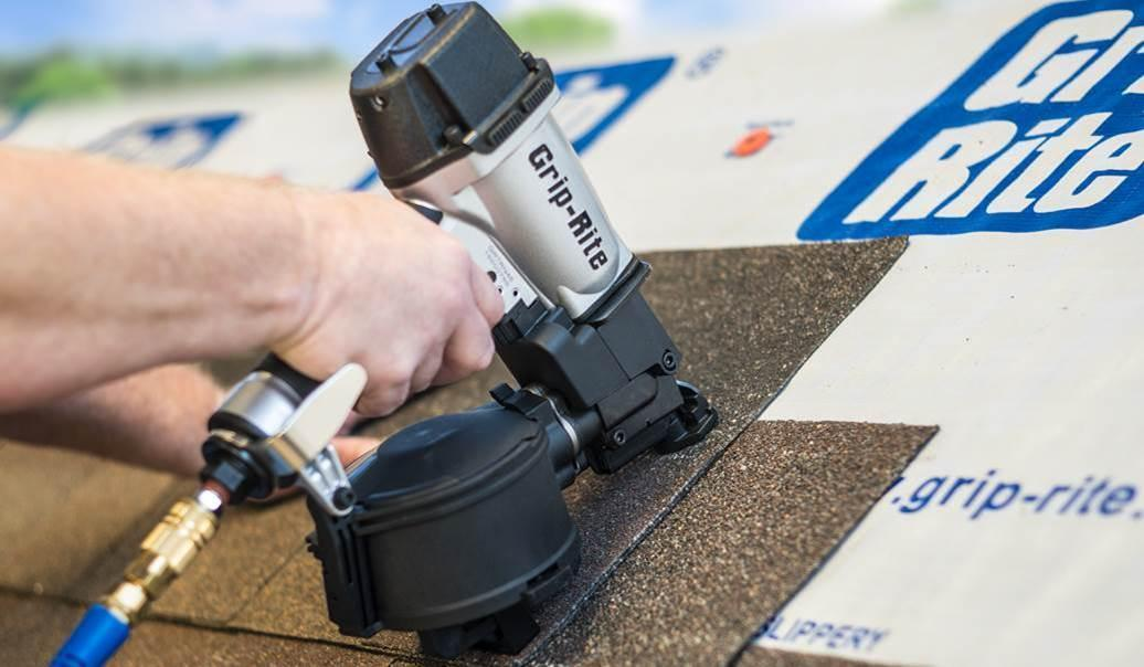 PrimeSource Building Products new Grip-Rite coil roofing nailer
