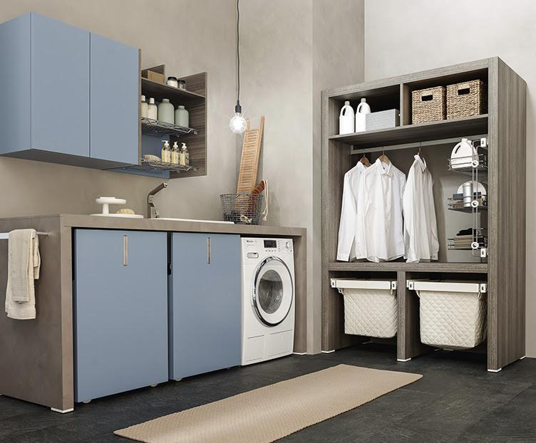 Hastings Tile and Bath Urban Wash Collection cabinets shelves