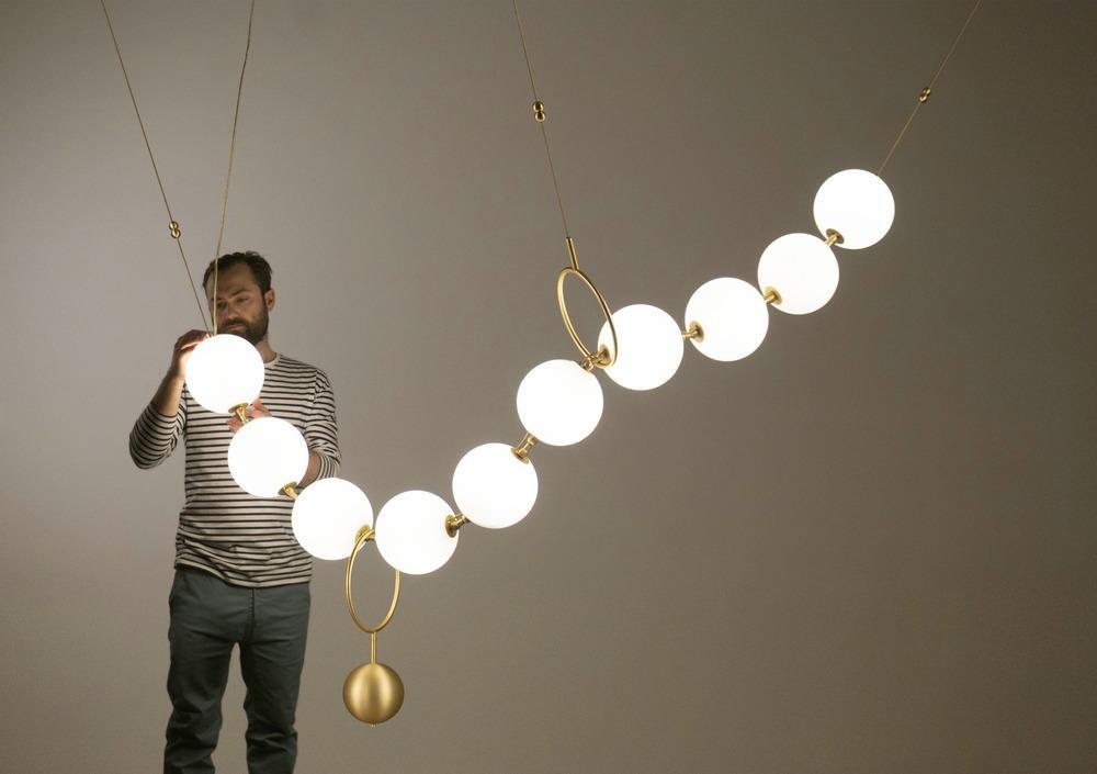 Larose Guyon Coco Light Fixture With Man