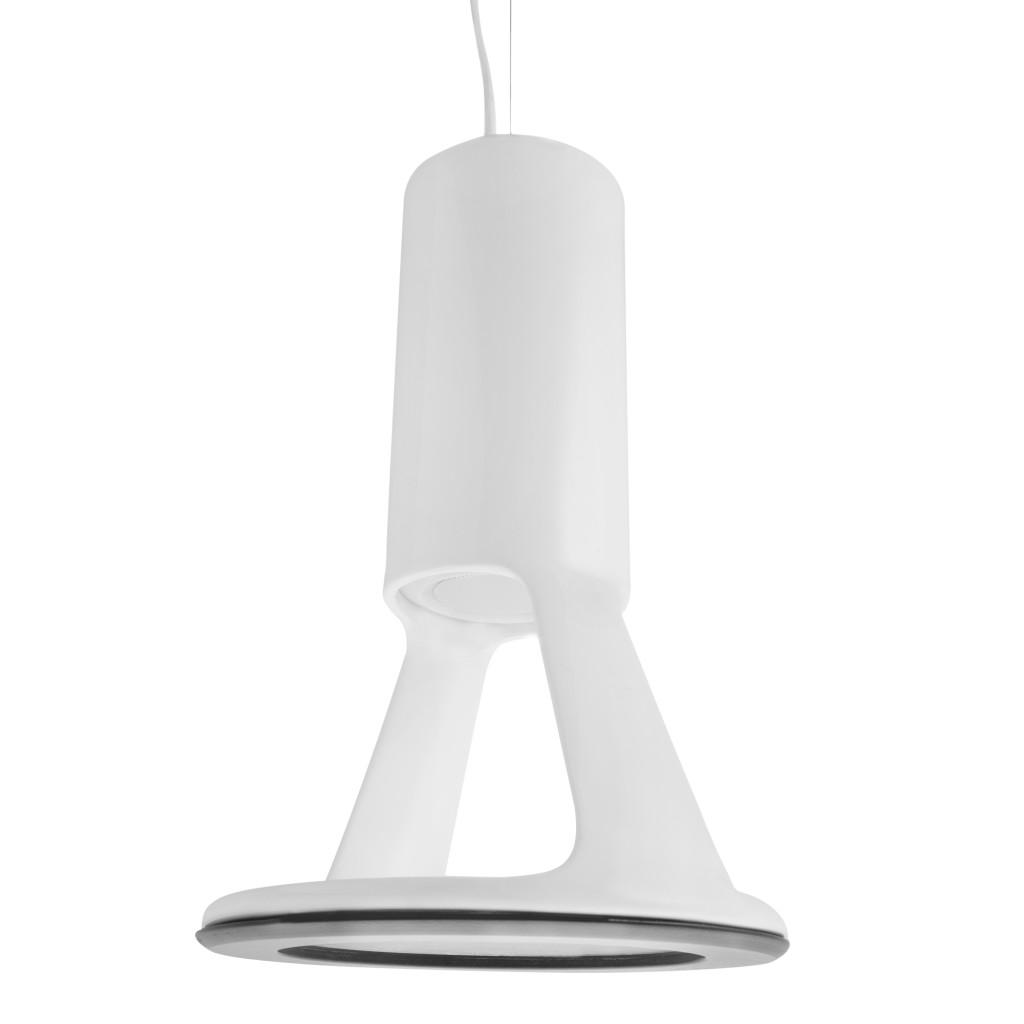 """The Feeler is a ceramic light fixture with a hidden talent: It integrates a Bluetooth speaker that allows homeowners to connect a smart phone or iPad. Italy-based Ecotono, a company that specializes in products with multiple functions, says the idea is that the lamp would resemble an antenna—to """"drive the end user to understand its hidden function."""" It comes in three colors."""