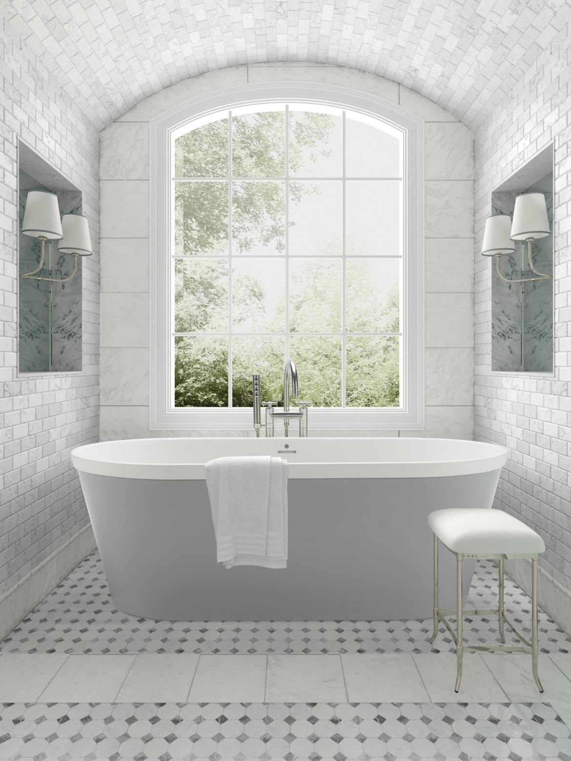 MTI BATHS The Blake Soaking Tub Bathroom