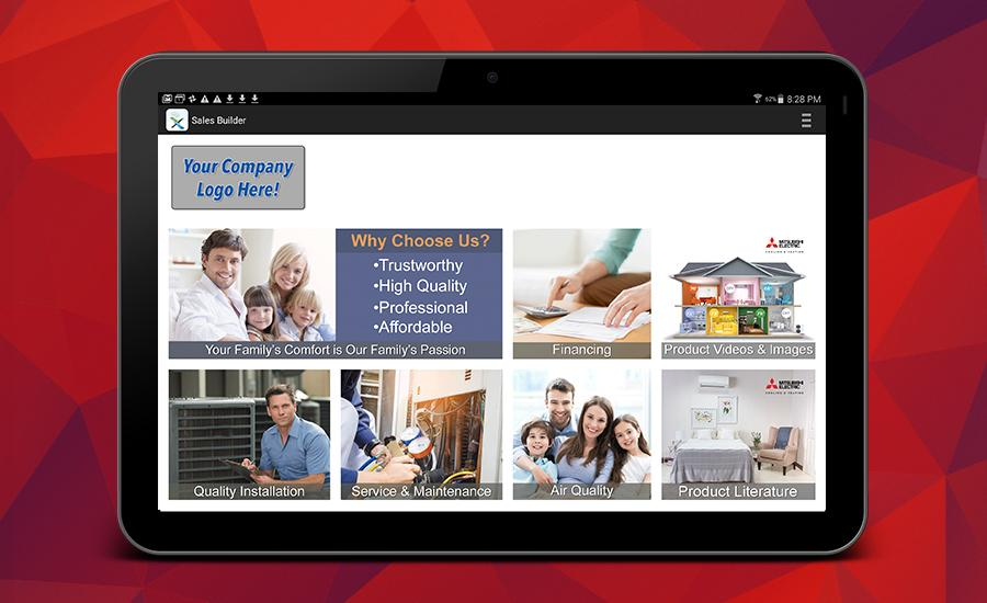 Mitsubishi Electric Trane HVAC US Improved Sales Builder Pro Mobile App