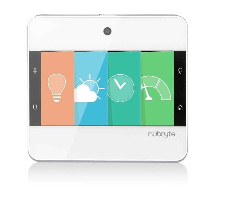 The NuBryte whole-house control solution includes the Touchpoint LED touchscreen, a central controller with access to security, lighting, intercom, and the family hub, as well as Smart Switches. The Touchpoint console installs into a single or dual light switch. Homeowners also can remotely control their home via the NuBryte smartphone app.