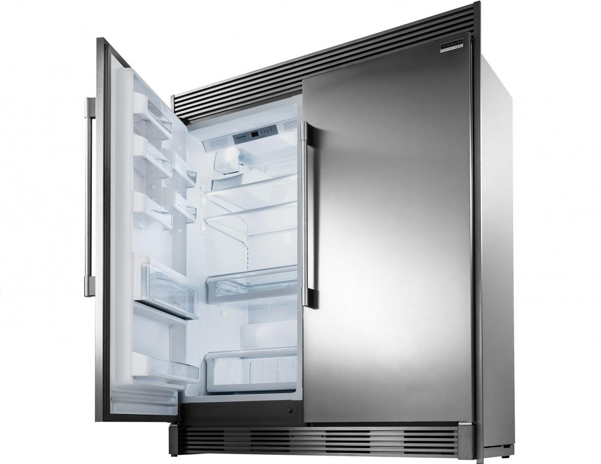 The Frigidaire Professional All Refrigerator and All Freezer deliver the ultimate pair for more cold storage with a versatile design that allows you to install your new single-door all refrigerator and single-door all freezer together, or in two separate places. Design your kitchens with this professional look and give your new home buyers the professional features they desire.