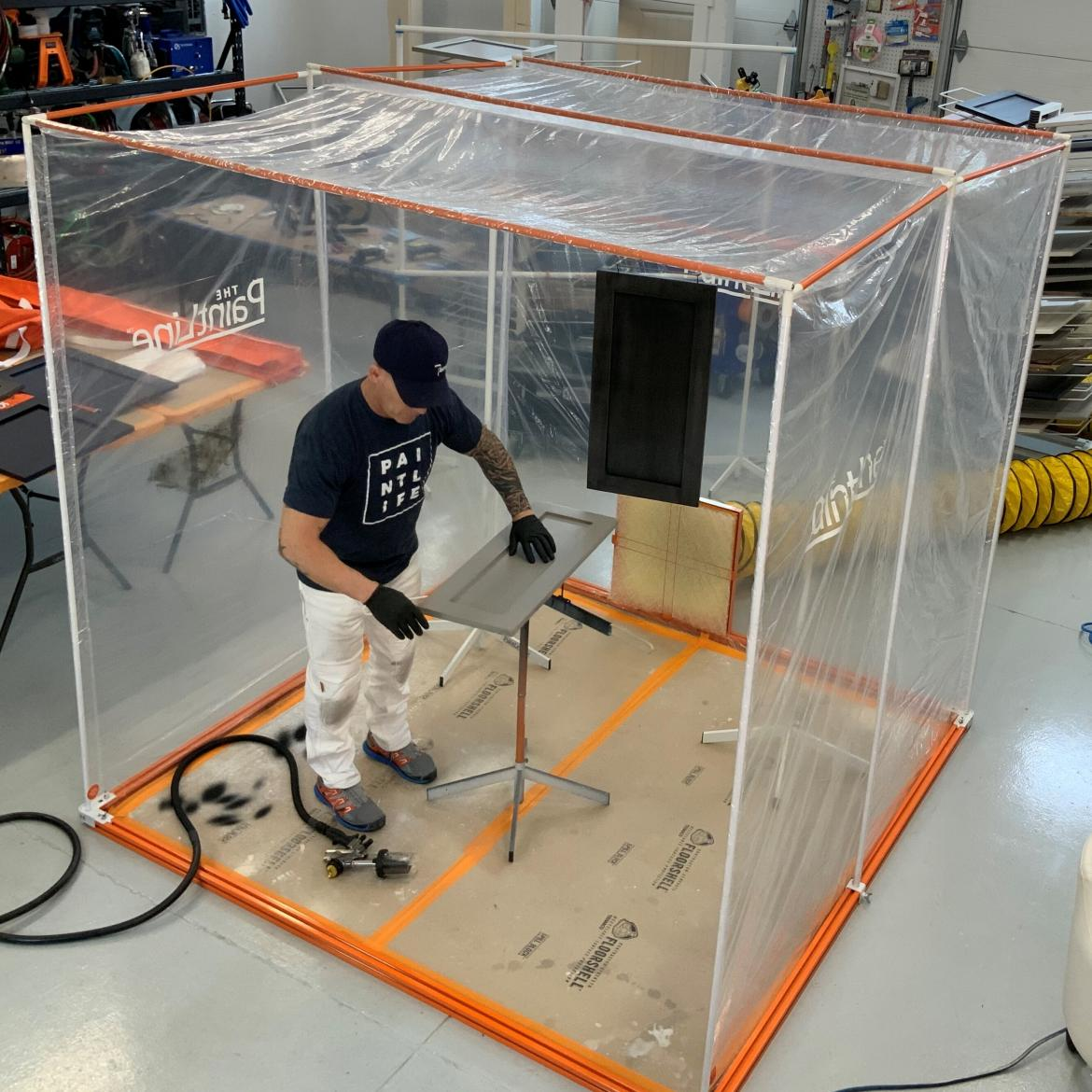 Portable spray paint booth professional