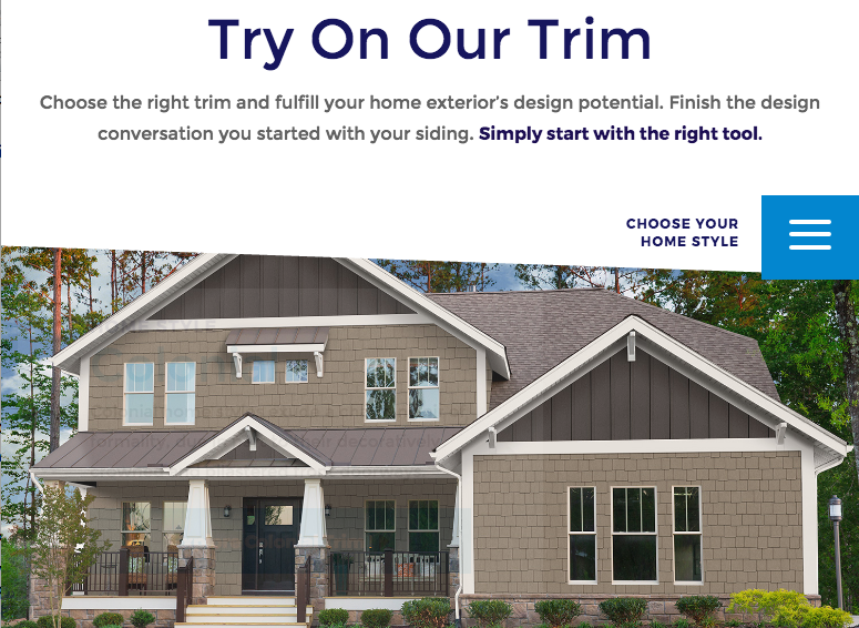A New Online Design Tool That Helps You Choose Exterior Trim