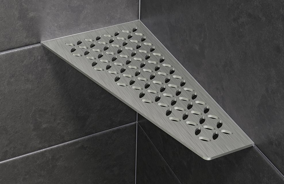 Schluter Stainless Steel Shower Shelves Residential