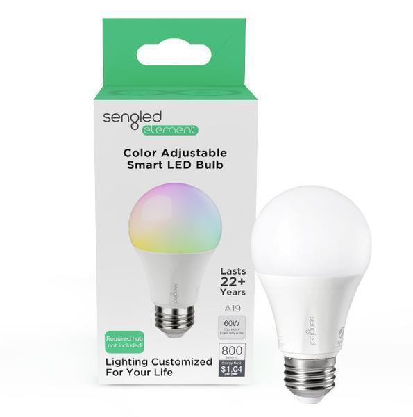 Sengled Element Color Plus A19 smart bulb packaging