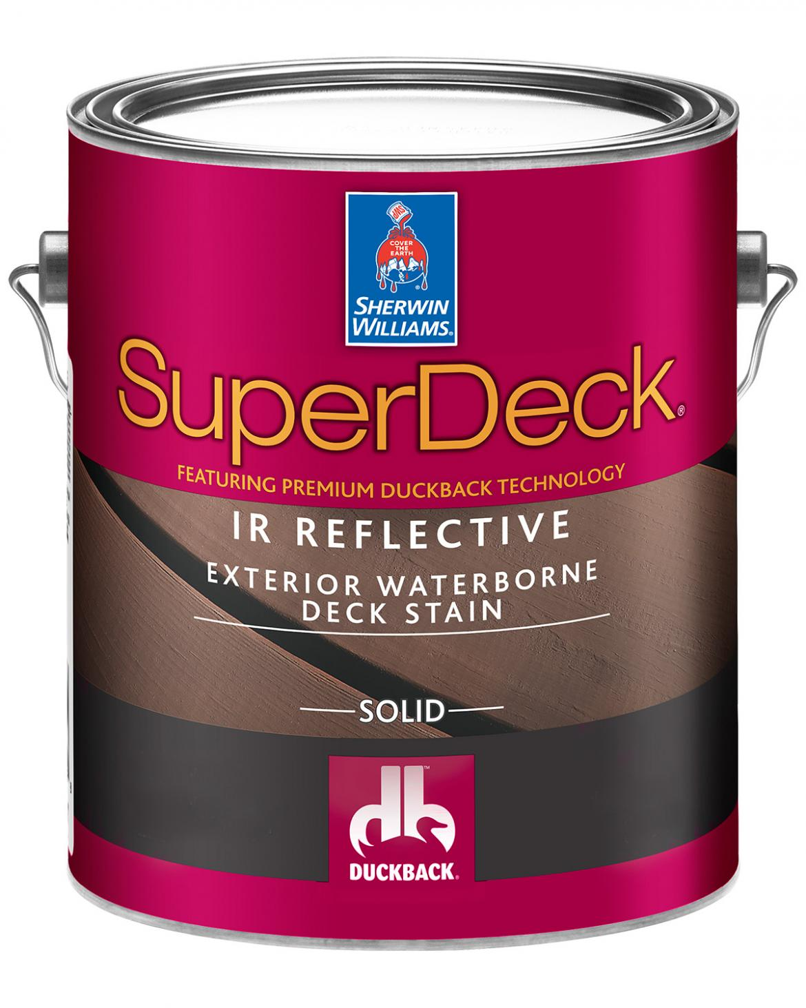 Sherwin Williams deck stain: SuperDeck Can