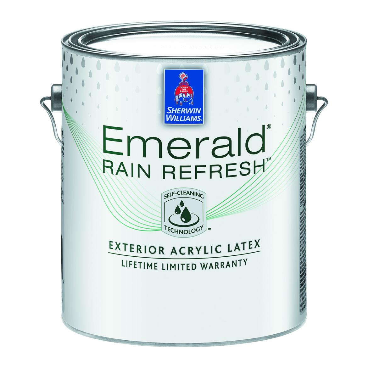 Sherwin Williams Emerald Rain Refresh Exterior Acrylic Latex Paint