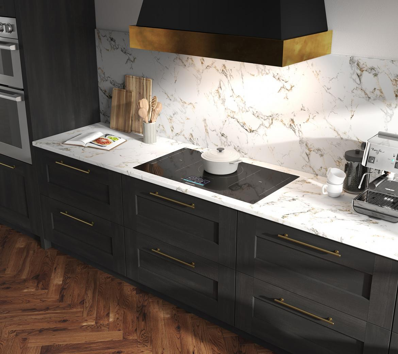 Signature Kitchen Suite 36 inch flex induction cooktop Kitchen Space
