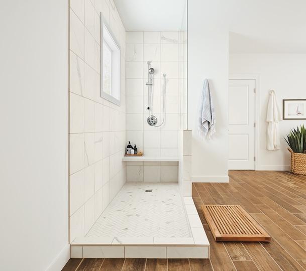 State Of Grace porcelain marble tiles bathroom