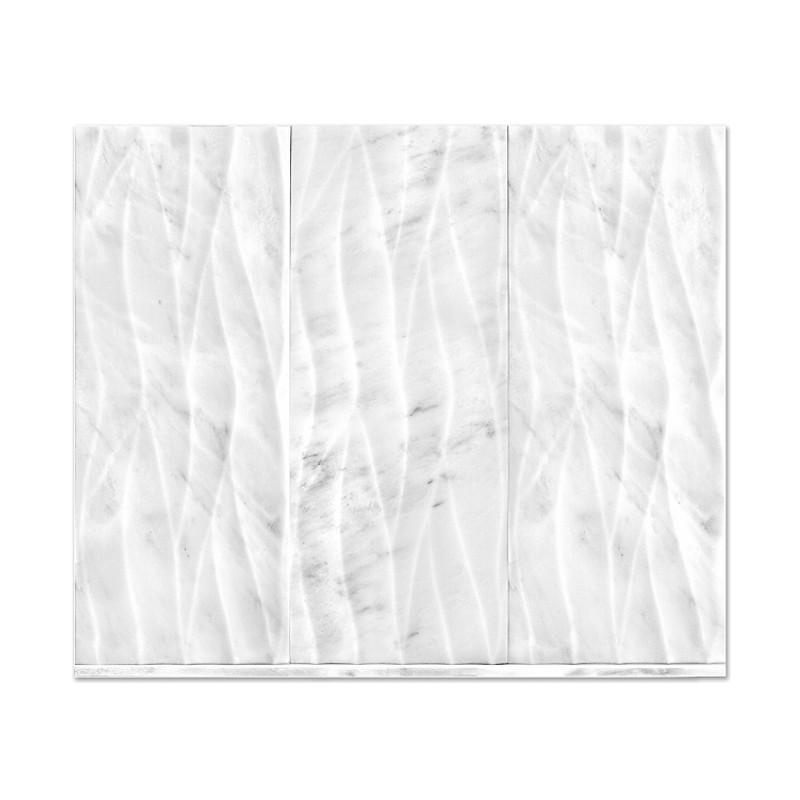 Rush River Stone Studios Hampton Engraved Marble wall tile
