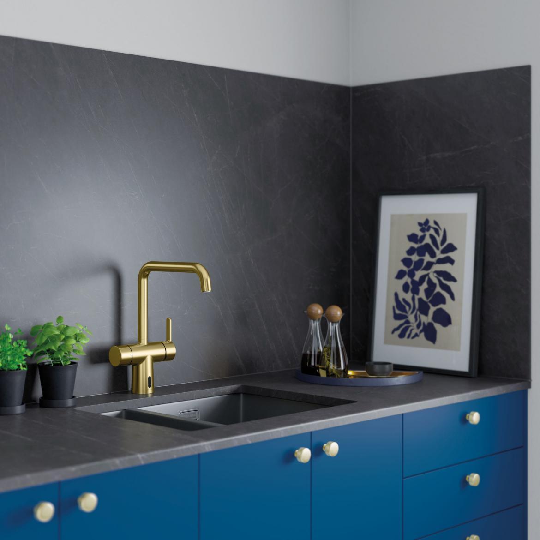 Touchless kitchen faucet brass modern