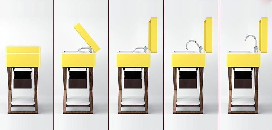 Aquatica MyBag Furniture Vanities yellow