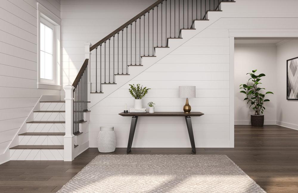 Farmhouse shiplap stair riser
