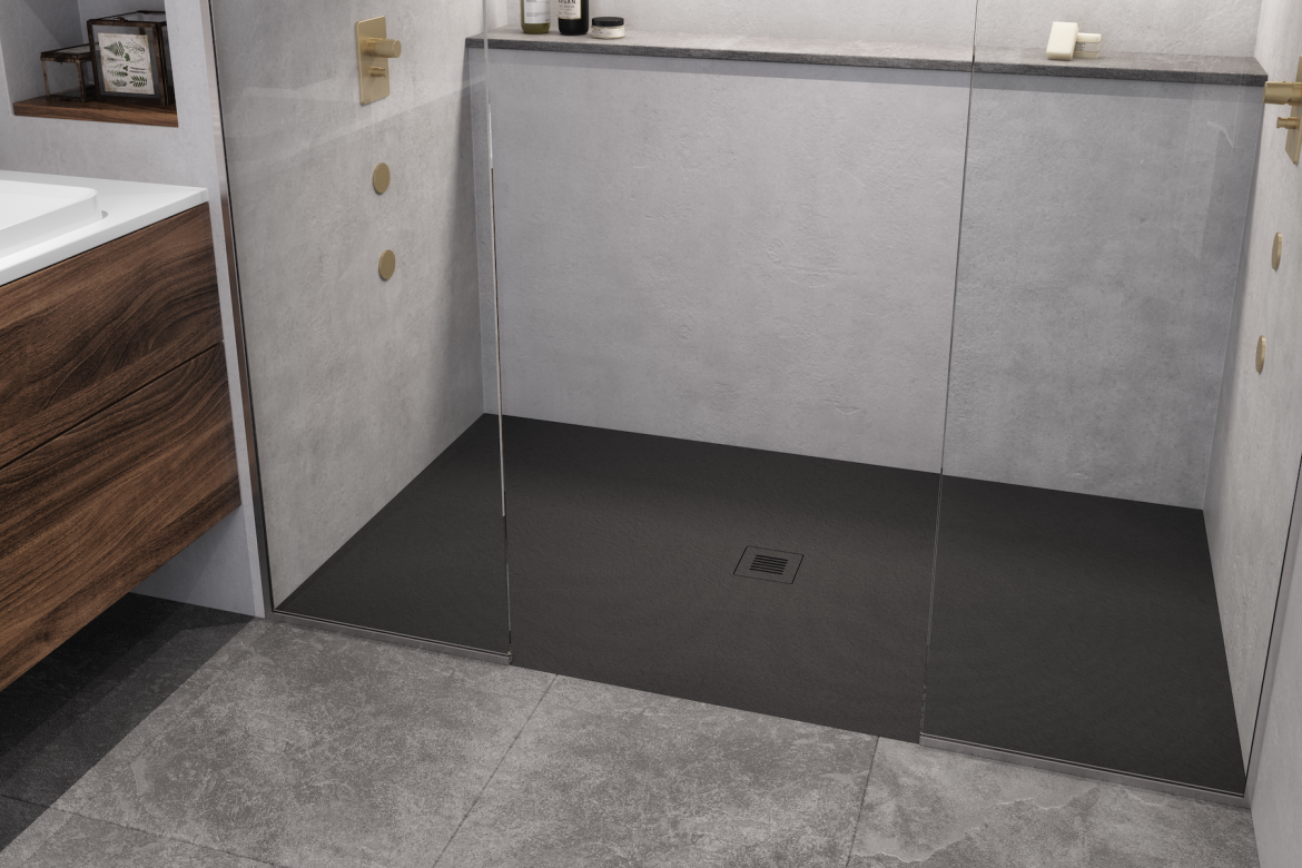 Westyle Feel Shower base black bathroom