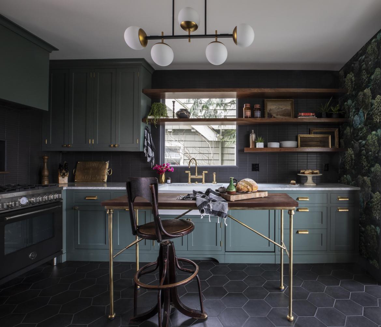 black kitchen european