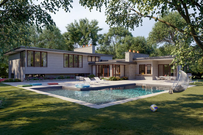 Latham rectangular pool in ground