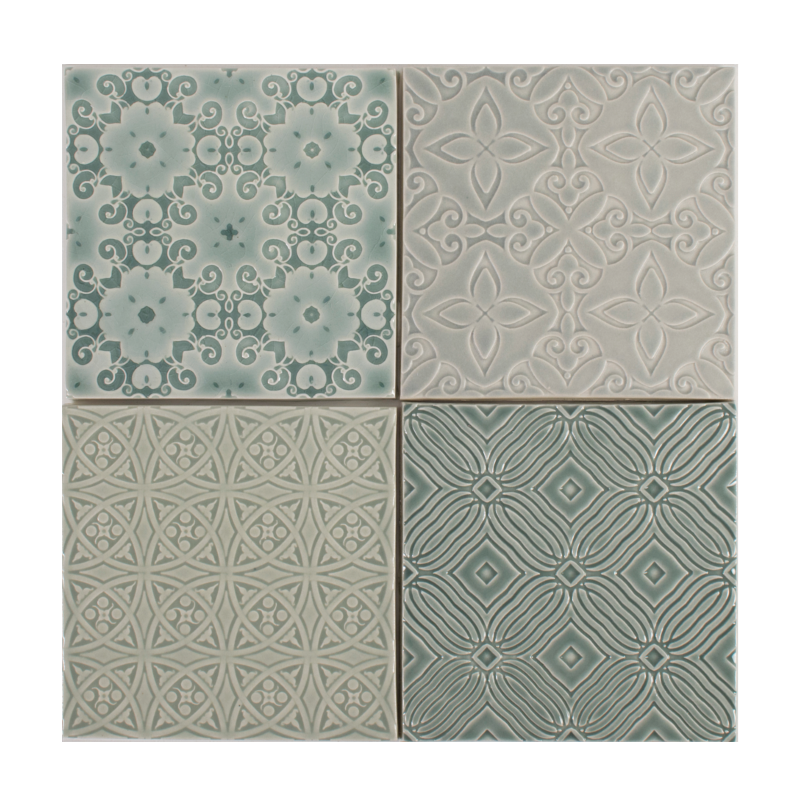 Pratt and Larson embossed ceramic tile