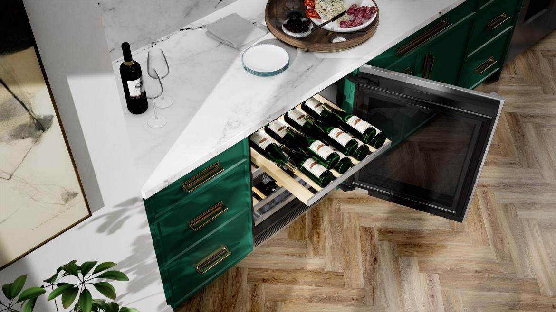signature kitchen suite wine fridge