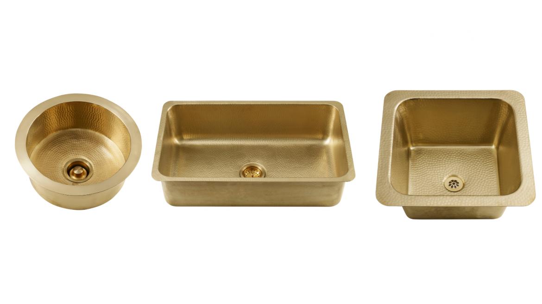 Thompson traders new brass sinks