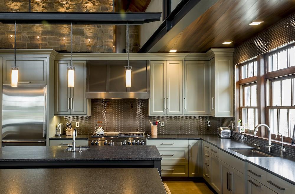 Top Knobs Devon interior kitchen hardware for cabinets in honey bronze