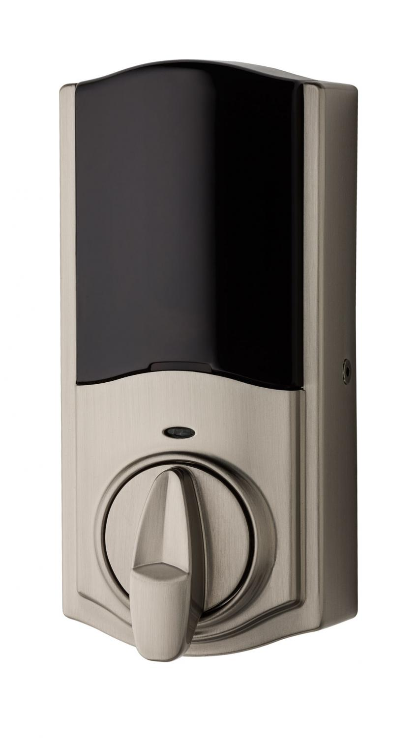 "Designed for the retrofit market, Kevo Convert turns an existing deadbolt into a smart lock. The unit replaces the interior side of the existing deadbolt. Once installed, homeowners may control their lock with a smartphone or send ""ekeys"" to visitors."