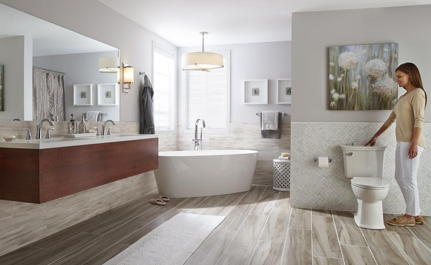 American Standard self cleaning toilet.