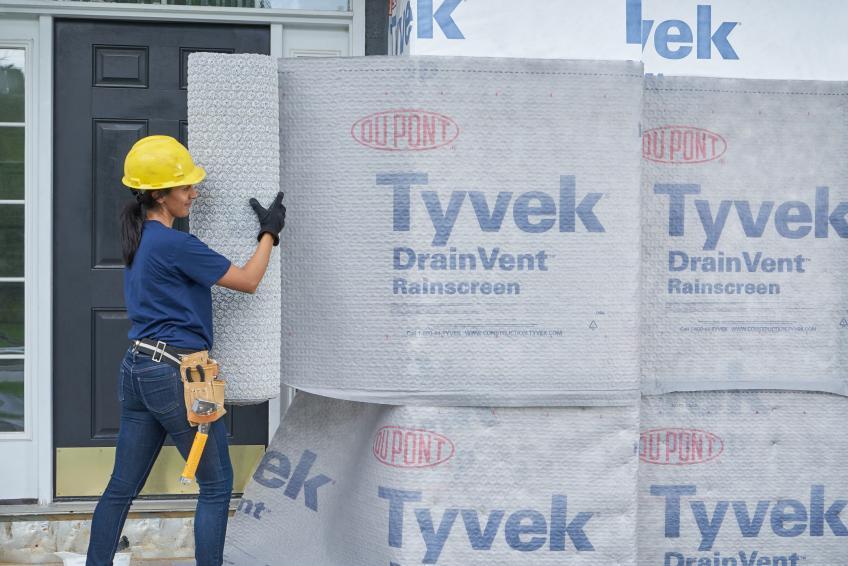 Drainvent rainscreen Dupont Tyvek