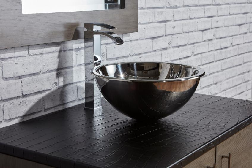 Ecodomo James Martin Collaborate On Leather Vanity Tops