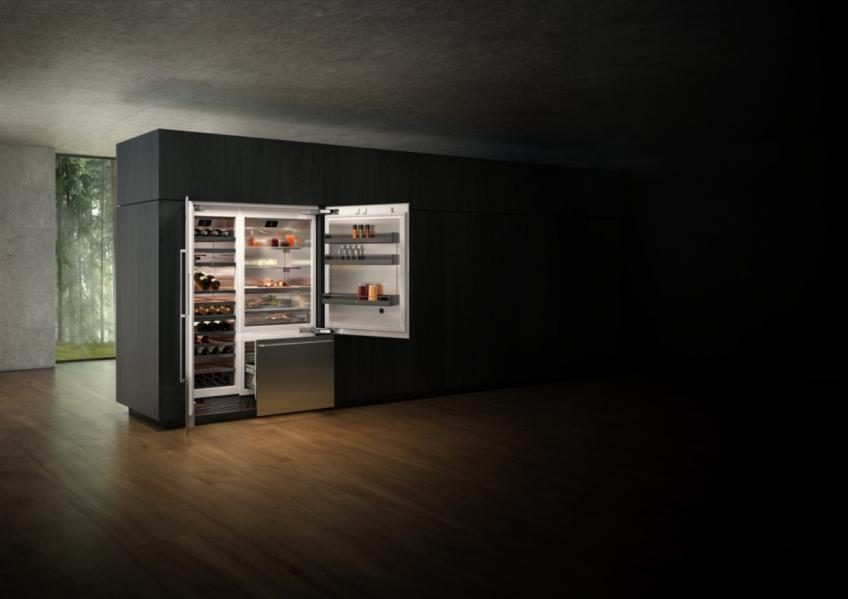 Gaggenau cooling 400 Series open Fridges in kitchen