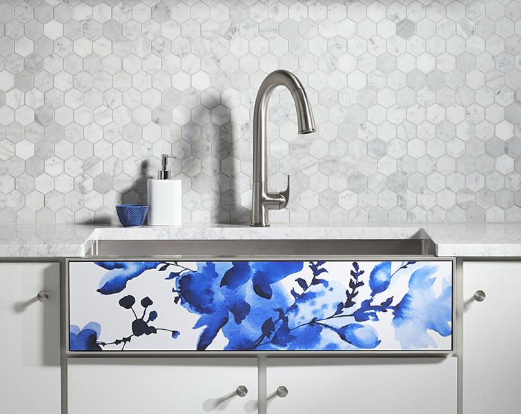 Kohler Tailor sink in Light Floral