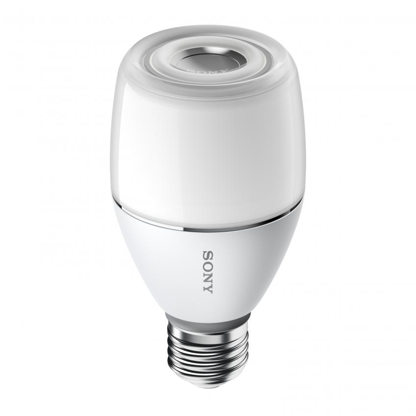 The brand's new product blends light and sound into one unit. Measuring about the size of a typical light bulb, it plugs into any standard socket and can be connected to a smartphone or tablet via Bluetooth, allowing users to adjust sound and light settings from anywhere in the room.