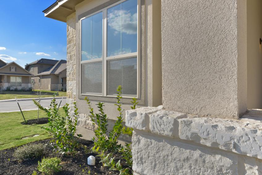 LP building products SmartSide with Dryvit Textured Acrylic Finish