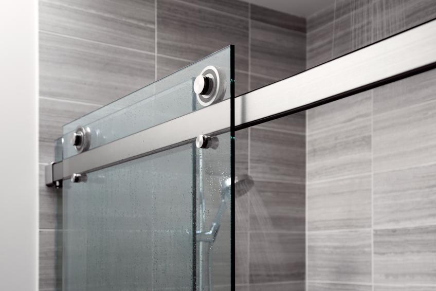 Architectural hardware manufacturer Krownlab debuted its first-ever sliding shower door system, called Rorik.