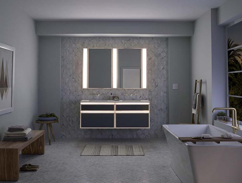 Robern Introduces Lighted Bathroom Collection Products