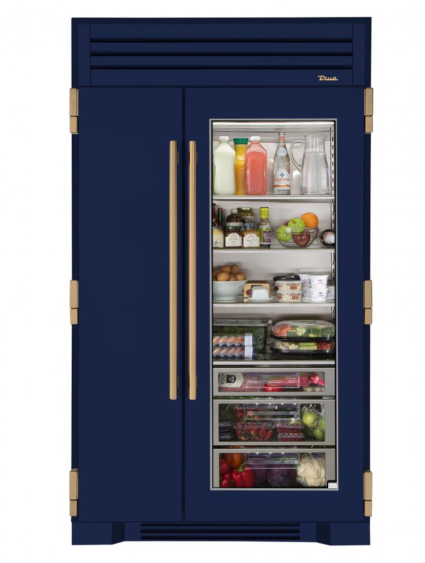 True Refrigeration 48 inch glass door fridge cobalt Blue
