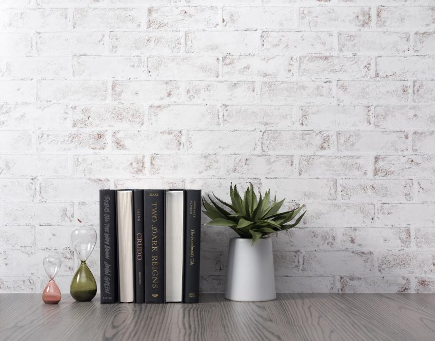 Wilsonart Greige Ash and Whitewashed Brick black and white laminate