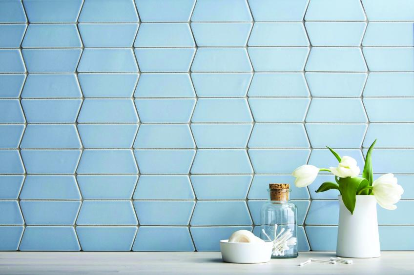 Ann Sacks Radius tile in blue